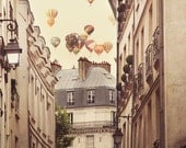 Paris Photography, Large Wall Art Print, Hot Air Balloons, Paris Decor, Romantic Art Print, Fine Art Photography - Paris is a Feeling