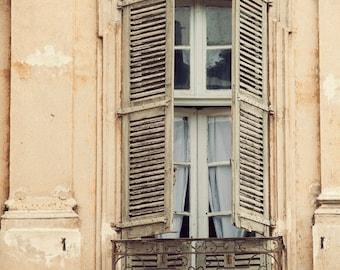 Provence Photograph, Rustic Window Print, Shabby Chic Decor, French Country Decor, Cottage Chic Wall Decor, France Art Print - La Bohème