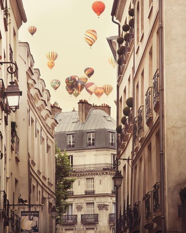 Paris Photography Print Large Wall Art Print Hot Air