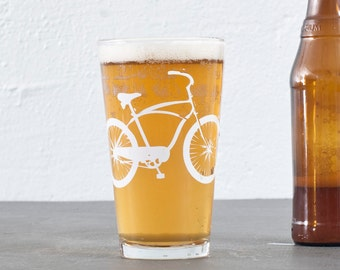 Cruiser bike  bicycle pint glasses