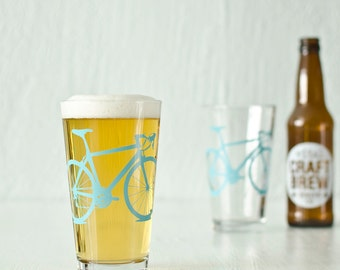 VITAL BICYCLE GLASSWARE screen printed bike glasses Pint