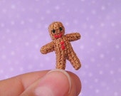 PDF PATTERN - Amigurumi Crochet Tutorial Pattern Micro Miniature Gingerbread