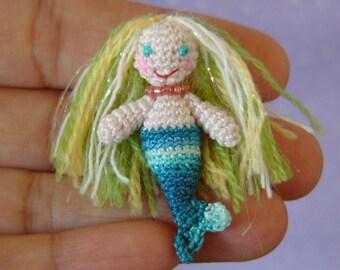 PDF PATTERN - Amigurumi Crochet Tutorial Pattern Miniature Mermaid