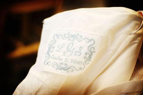 Wedding Dress Label with Decorative Border
