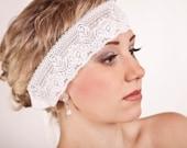 Art Deco Wedding Inspired Lace & Ribbon Headband