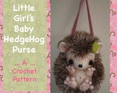 Little Girl's Baby Hedgehog Purse Bag Tote PDF Digital CROCHET PATTERN by Peggytoes