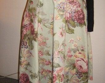 Floral swing skirt, rose print skirt, retro 50's swing skirt, Mint green floral skirt