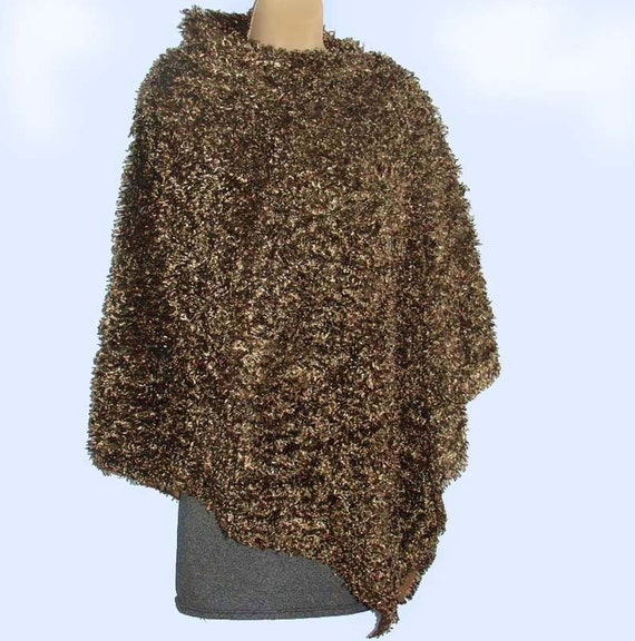 RESERVED listing for Marianna   Faux Fur Asymmetric Cape in Chocolate Brown