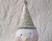 PDF Sweet Paperclay Paper Clay Snowman Ornament Tutorial no shipping cost