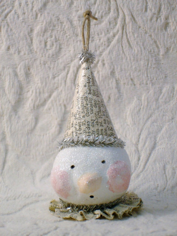 PDF Sweet Snowman Ornament Tutorial no shipping cost