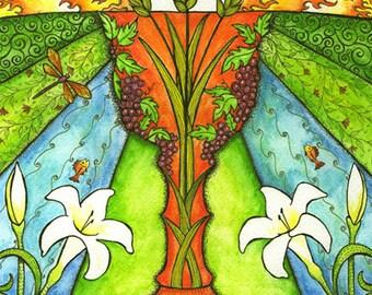 Personalized First Communion Gift 5 x 7 Art Print - Eucharist