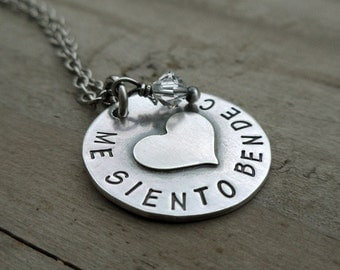 Custom Heart Necklace Personalized Jewelry