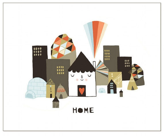 Notecard - Happy Home