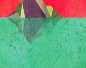 Iceberg, (Geometric Nature Inspired)  Art Print