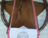 SALE ~ vintage Country Club Flour feed sack purse - Gussied Up Messenger Bag