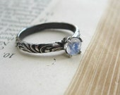 Faceted Moonstone Engagement Ring Gemstone Commitment promise ring