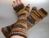 Late Autumn - Crochet Fingerless Gloves
