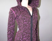 Pink Stars and Clouds Zipup Hoodie ON SALE