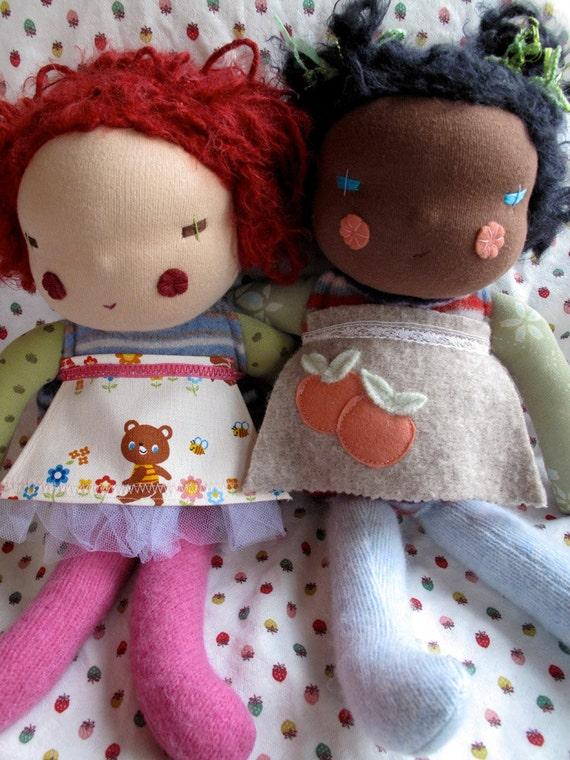 Waldorf doll inspired, handmade doll, Kawaii doll - made to order