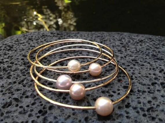 Freshwater Pearl Bangle Bracelet
