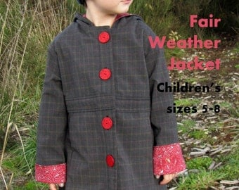 Fair Weather Jacket ePattern (pdf) for child sizes 5 to 8