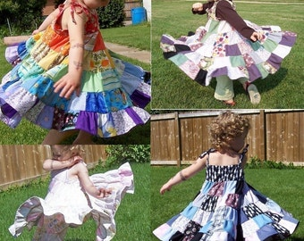 Tiered Patchwork Twirler ePATTERN for child in PDF
