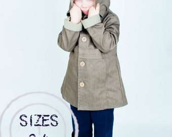 Fair Weather Jacket PDF EPATTERN for child sizes 2 to 4