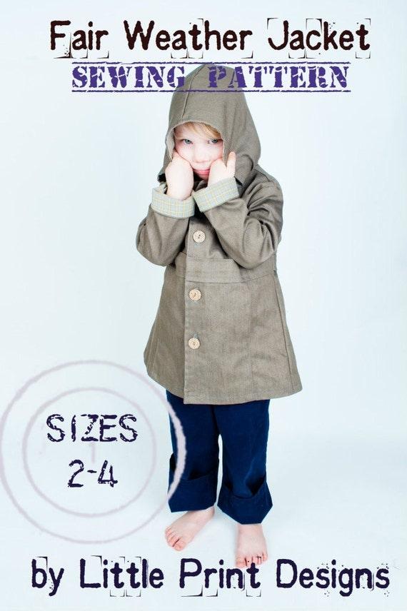 Fair Weather Jacket PDF EPATTERN for child sizes 2 to 4