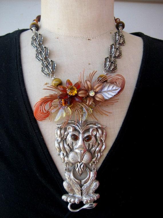 SALE Vintage Necklace,  Statement Necklace, Vintage Assemblage