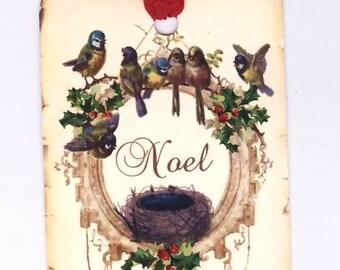 Christmas Gift Tags , Shabby Birds , Noel , Vintage Style Christmas , Woodland Christmas