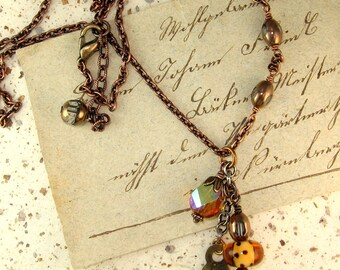 Streaker Copper Charm Necklace