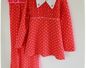 Strawberry Polka dot Children's Leisure suit - Mint 1970's