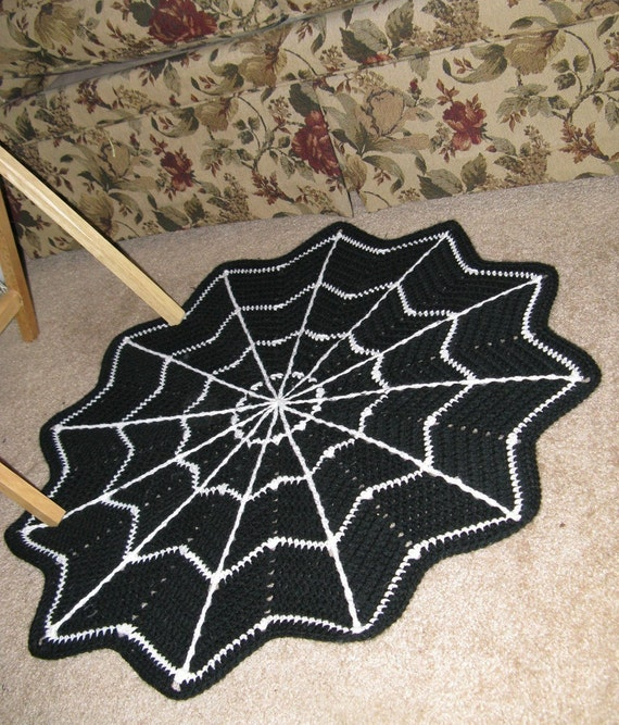Small Spiderweb Throw Rug To Order For By N2Imaginations