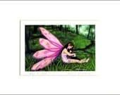 "Evie Anderson Welsh Corgi Art SIGNED PRINT ""Fairy & Corgi I""  (quality, signed, matted) Pembroke"