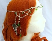 Forest Elf Branch and Fern Silver Circlet, Bridal Head Piece, Bridal Hair, Fairy Circlet, Elven Headpiece, Renaissance Crown