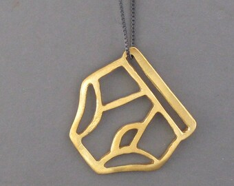 golden UNDERPANTS tighty whitey necklace