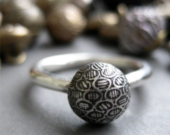 Vintage Victorian Button ring made to order