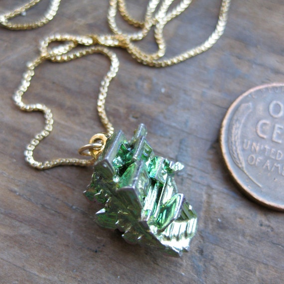 elemental BISMUTH crystal necklace