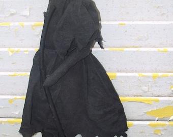 Primitive Witch Silhouette Halloween Door Greeter