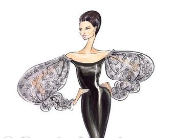 Eva -Fashion Illustration- by Brooke Hagel