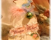 Vintage Winter Snowman Ornament