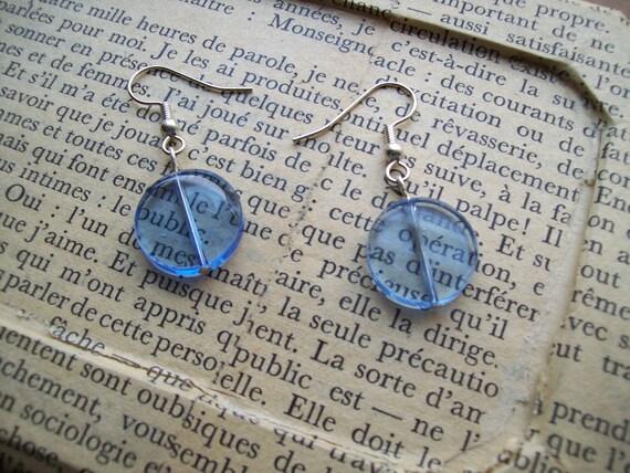 SALE - Baby Blue Lollipop Candy Drop Earrings