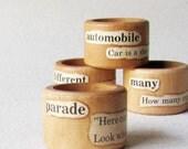 Rustic Napkin Rings- Primitive Thanksgiving Table, Teacher Gift, Home Decor, Gift Under 20