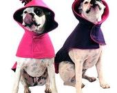 Eco Dog Coat - Recycled Pink Purple Fleece - Extra Large