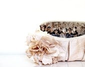 personalized silk floral clutches, champagne