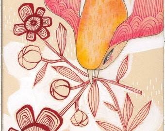 watercolor - bird painting - limited edition - archival - animal art - by cori dantini