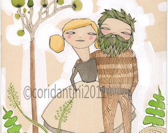 portrait of couple -archival - limited edition - 8 x 8 inches - sickeningly sweet by cori dantini