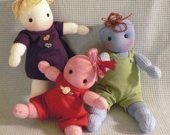 Sock Doll Pattern - Small Cuddly Sock Dolls - sewing pattern PDF - epattern download
