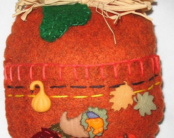 Pumpkin Pocket Gift Holder    #FH-124