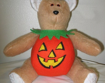 Bear in a Pumpkin Table Decoration  #F/H-115